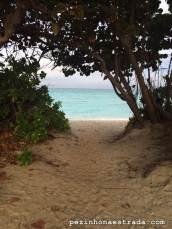Caminho do condomínio até a praia