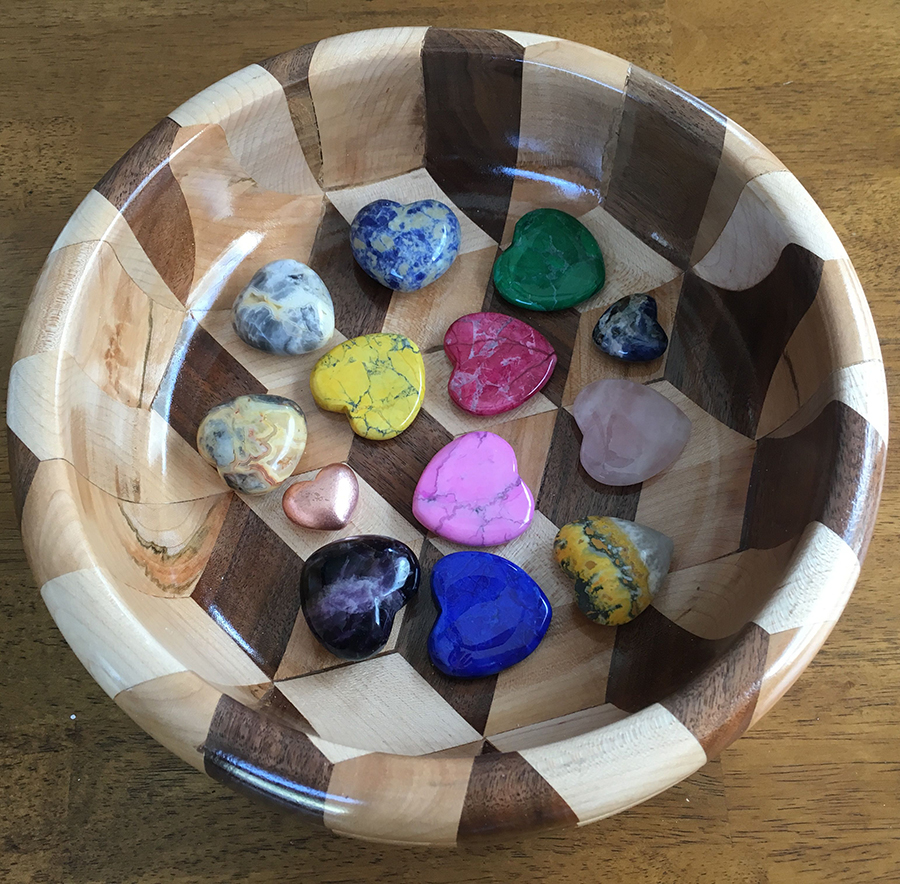 heart-shaped gems and minerals