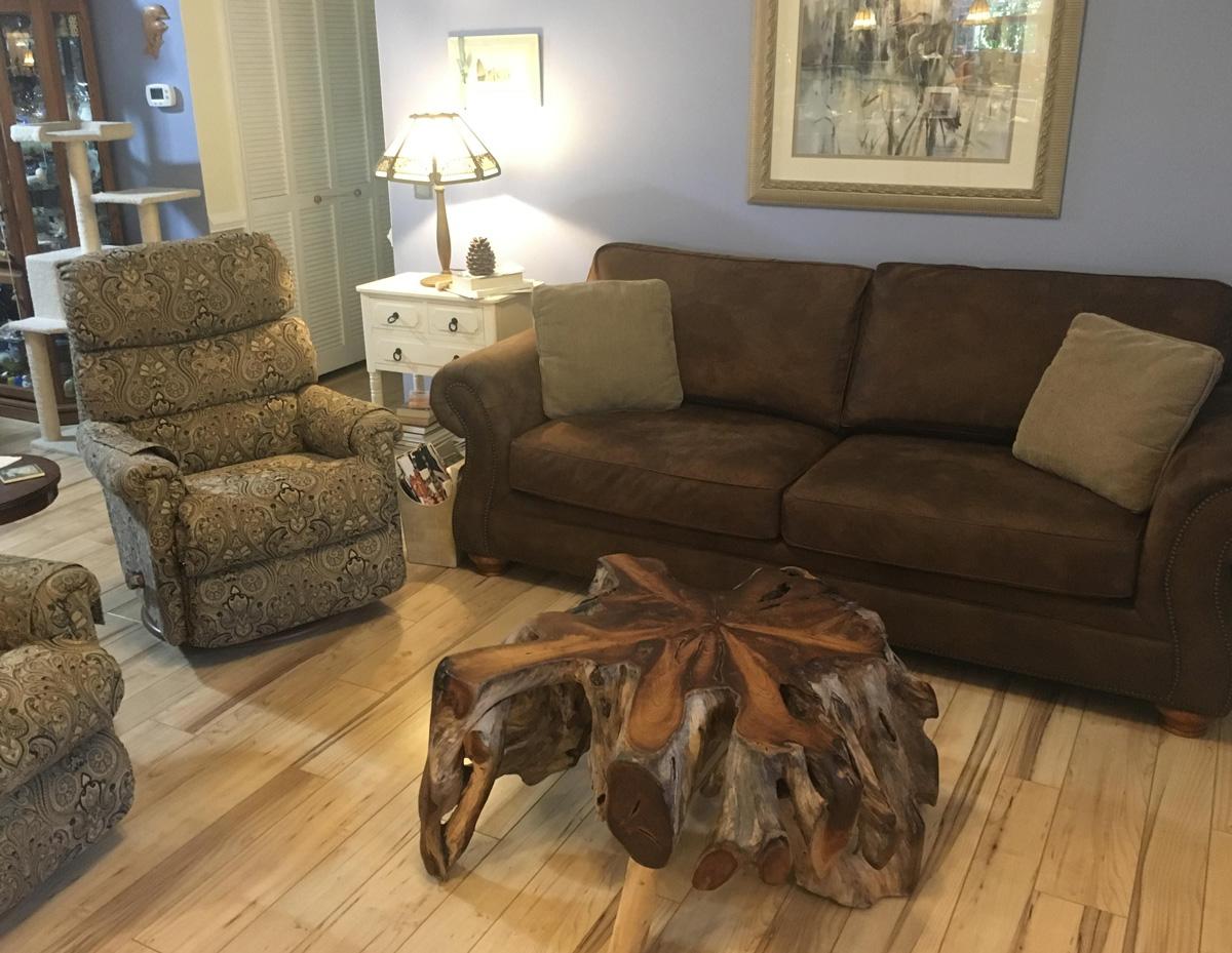 teak living room table