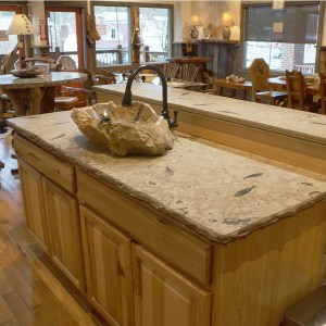 green river fossil kitchen counter