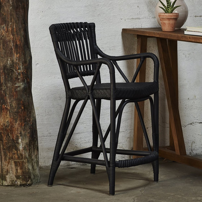 Blues Barstool Black D1