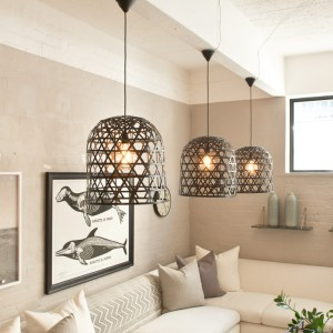 Bamboo Lamp Black