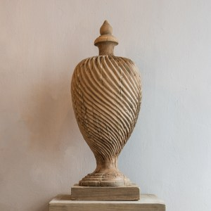 Carved Wooden Urn