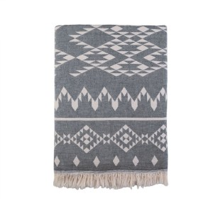 Kilim Throw Black