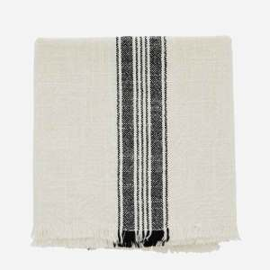 Striped Kitchen Towel with Fringes