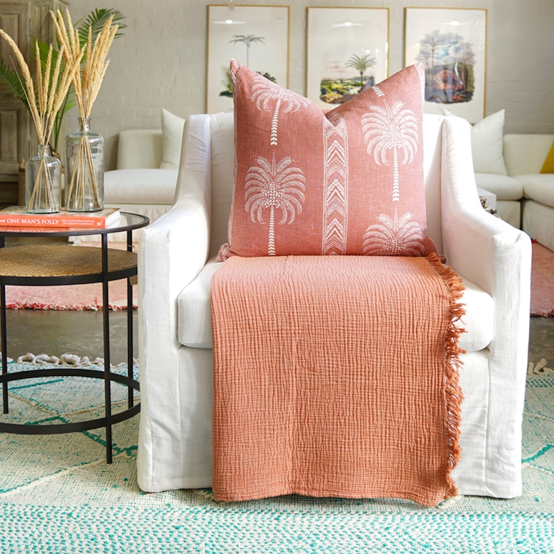 Cocoon Throw Apricot