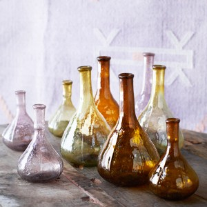 Assorted Glass Vases Colours