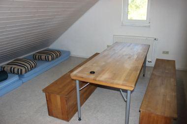 Multifunktionsraum (Gruppenraum) bzw. das Matratzenlager für 8 Personen
