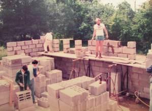 Geschichte Selbstversorgerhaus Baustelle 1983 - 1985