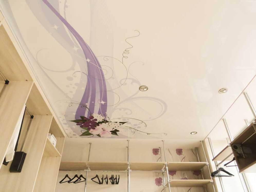 Spanndecke-Kleiderzimmer