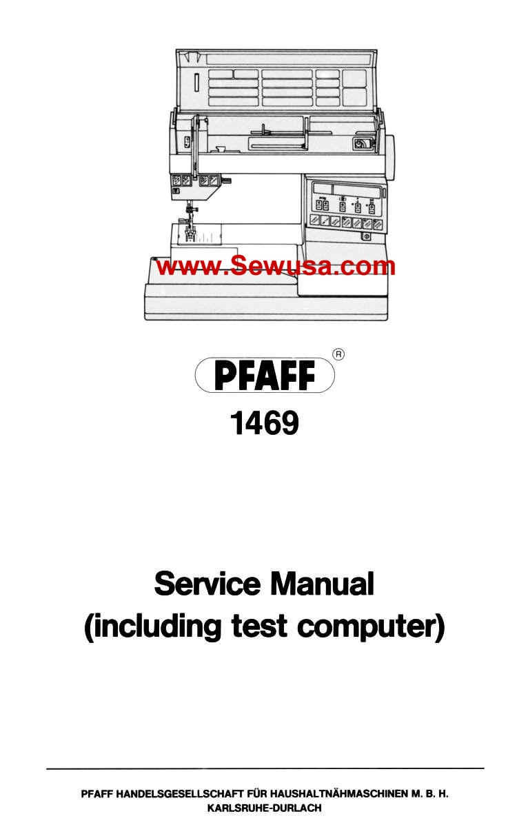 Pfaff Sewing Machine Service and Parts Manuals
