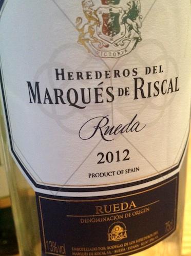 Marqués de Riscal Rueda. Verdejo