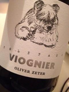 2013 Viognier, Oliver Zeter