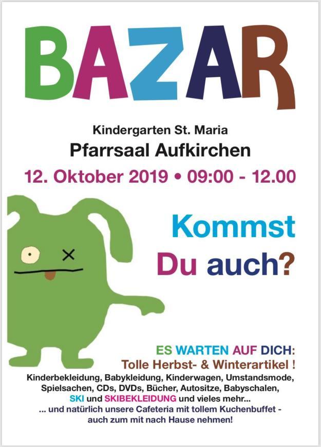 Herbst-/Winterbazar des kath. Kindergartens