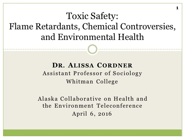 Toxic Safety: Flame Retardants, Chemical Controversies, and