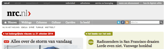 The labels on nrc.nl