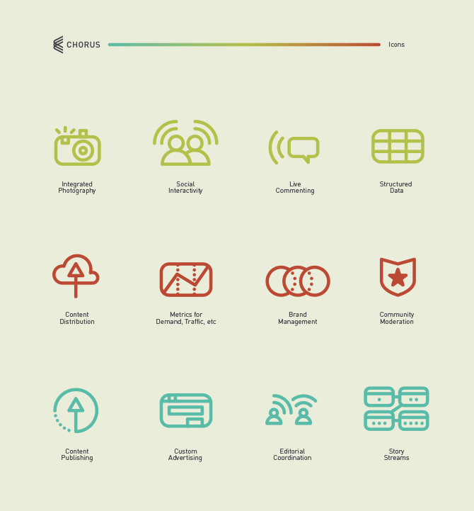 Chorus icons designed by Cory Schmitz