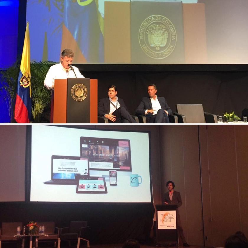 Op het World Editors Forum in Colombia