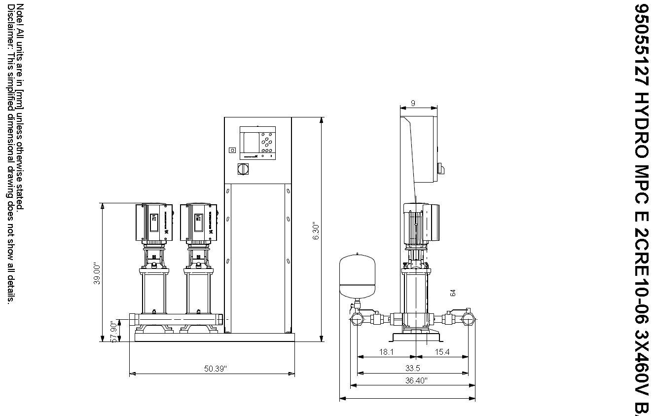 Grundfos Booster Dual Pump Skid 460 Volts