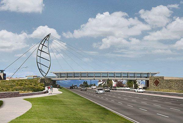 Lincoln Avenue Pedestrian Bridge | Covered Walkway