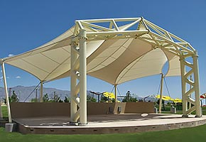 amphitheaters bandshells stage design construction tensile membrane structure