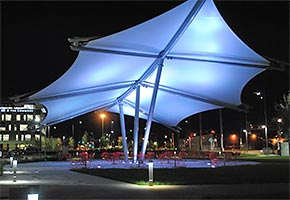 pavilions tensile fabric structure design construction
