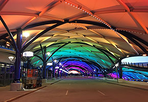 greater rochester international airport tensile membrane structures