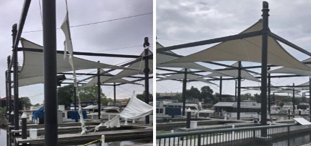 FabriTec Structures Stockton Waterfront Marina fabric service structure repair
