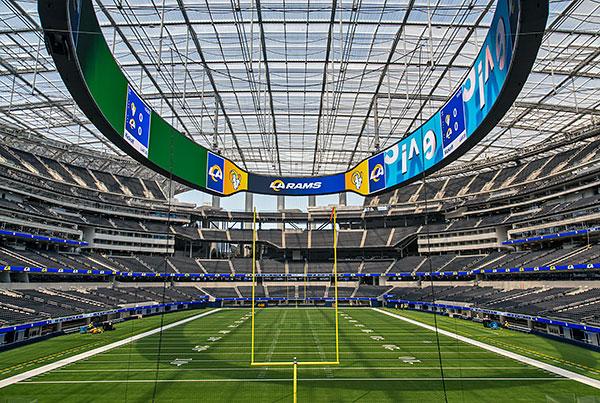 SoFi Stadium | Cable Net ETFE Stadium Roof