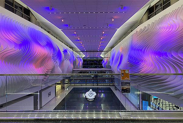 The Canyon at Salt Lake City International Airport | Interior Fin Facade
