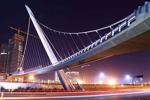 Harbor Drive Pedestrian Bridge | Suspension Bridge