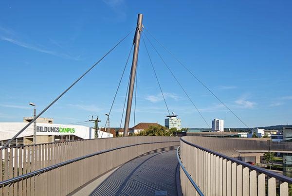 Campusbrücke | Cable-Stayed Bridge
