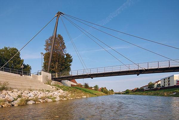 Mangfallsteg Bridge | Cable-Stayed Bridge