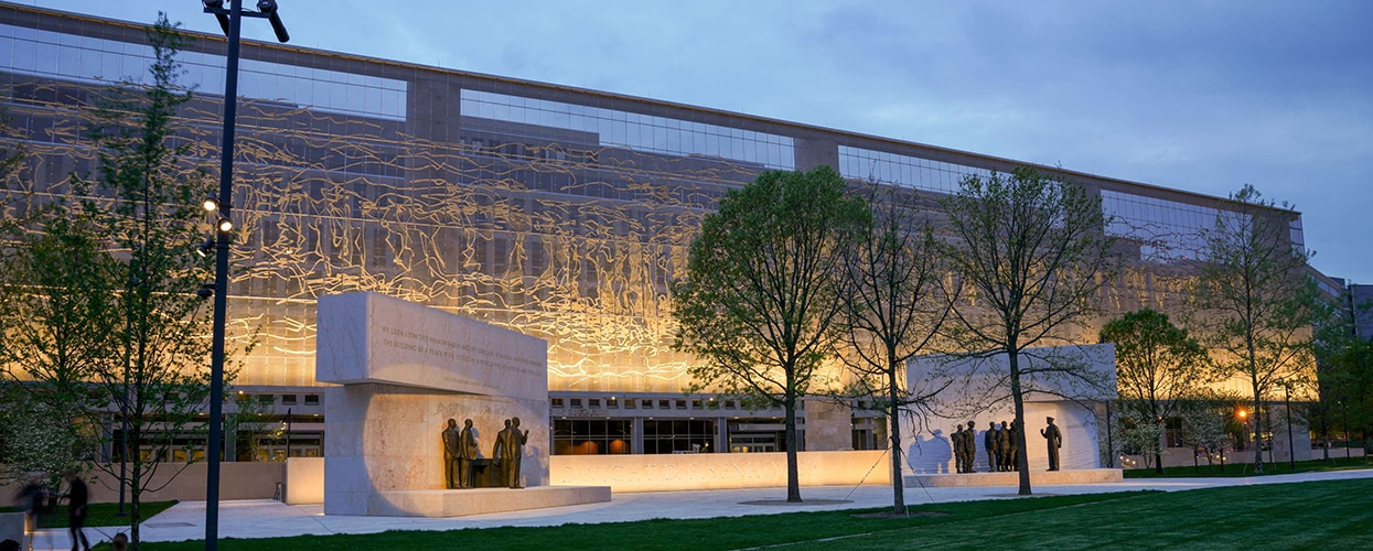 dwight d eisenhower memorial tensile cable-structure