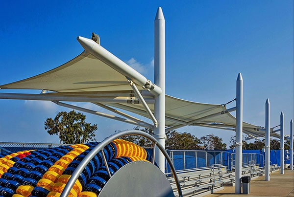Santa Monica High School   Pool Canopies