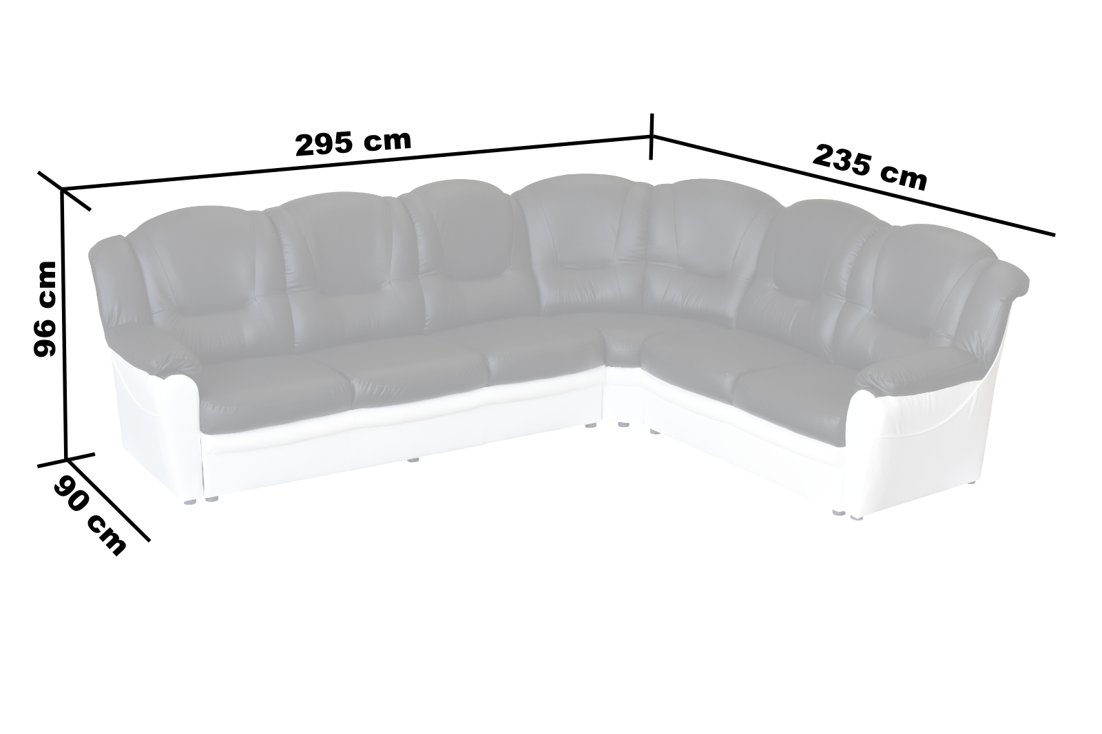 nova black and white leather corner sofa right hand reclining sofas sectionals texas faux andwhite  pf furniture