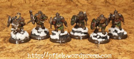 Fjell Warriors - Figurenmarkierungen