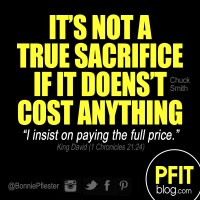 True Sacrifice Has a Cost
