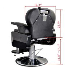 White Multi Purpose Salon Chair Lane Wing Recliner Slipcovers Barberpub Three All Barber Hydraulic Recline