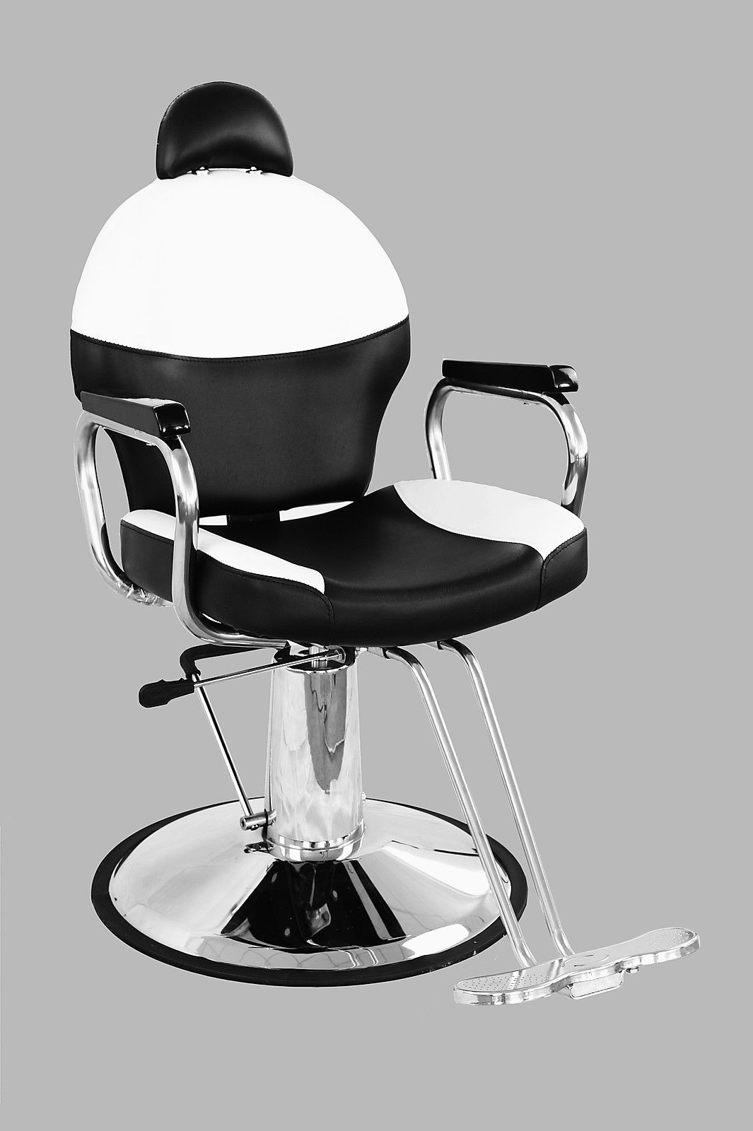 headrest for barber chair black and white reclining hydraulic salon styling beauty spa
