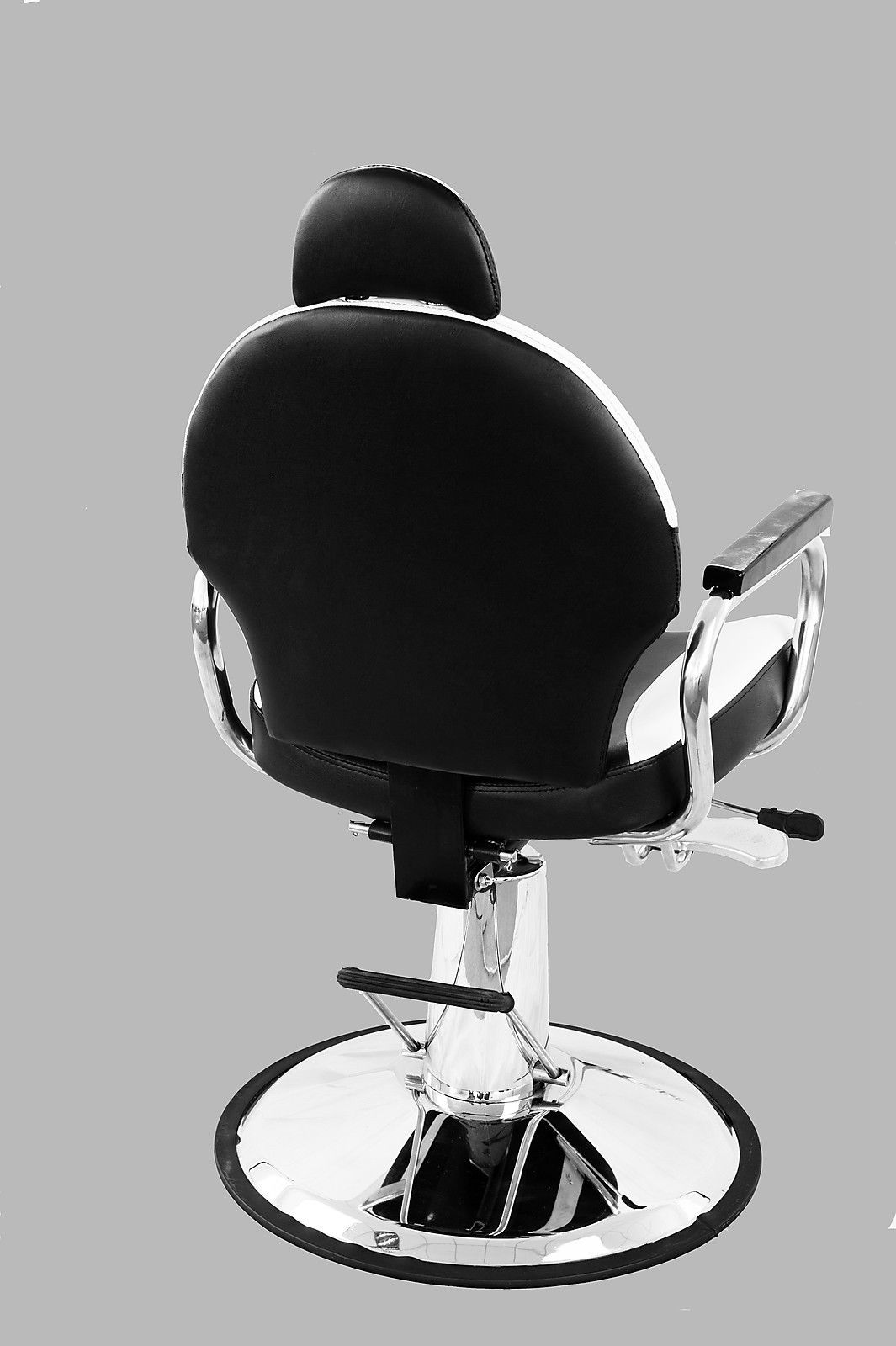 black white barber chair steel for study reclining hydraulic salon styling beauty spa