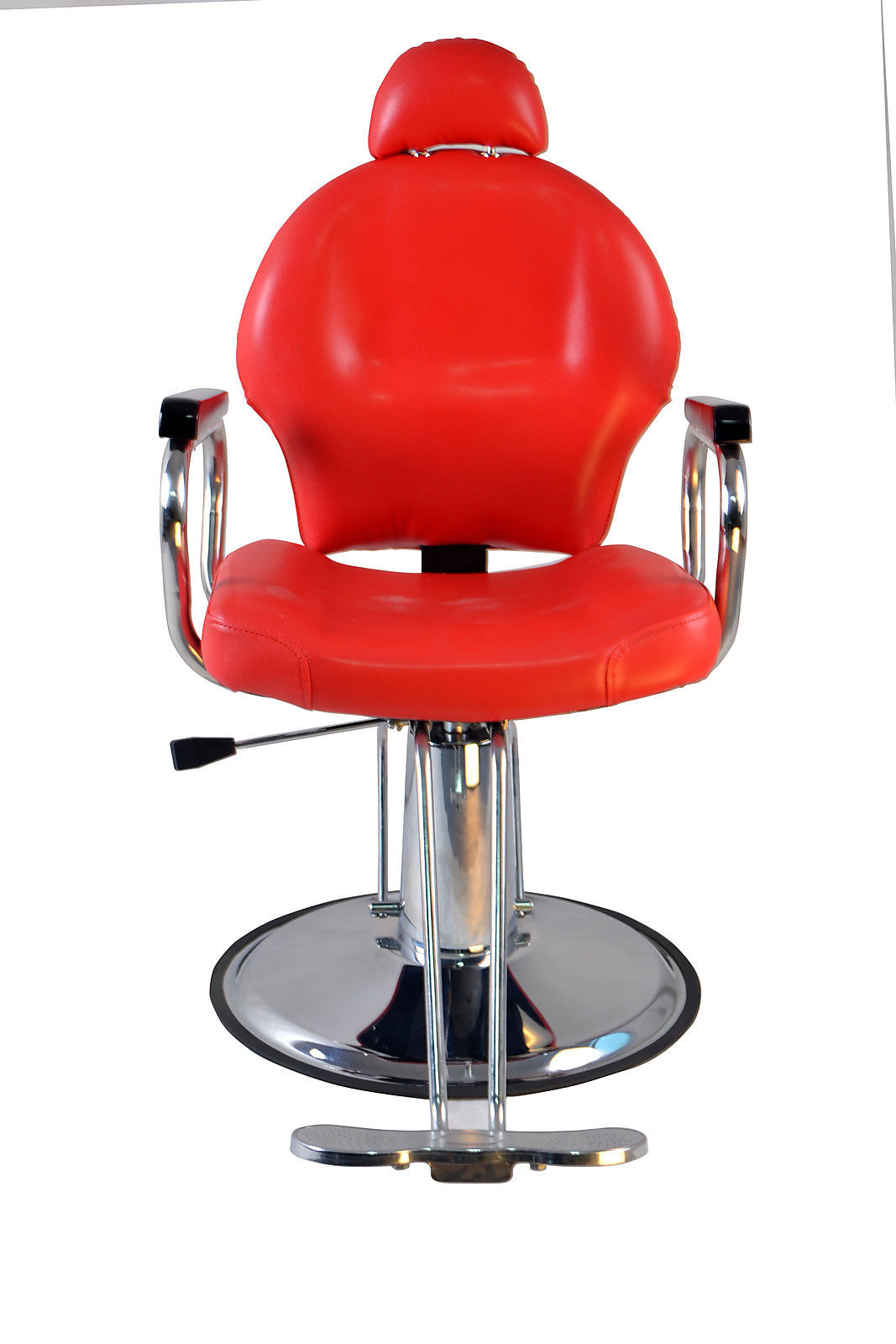 Red Salon Chairs Barberpub Reclining Hydraulic Barber Chair Salon Styling