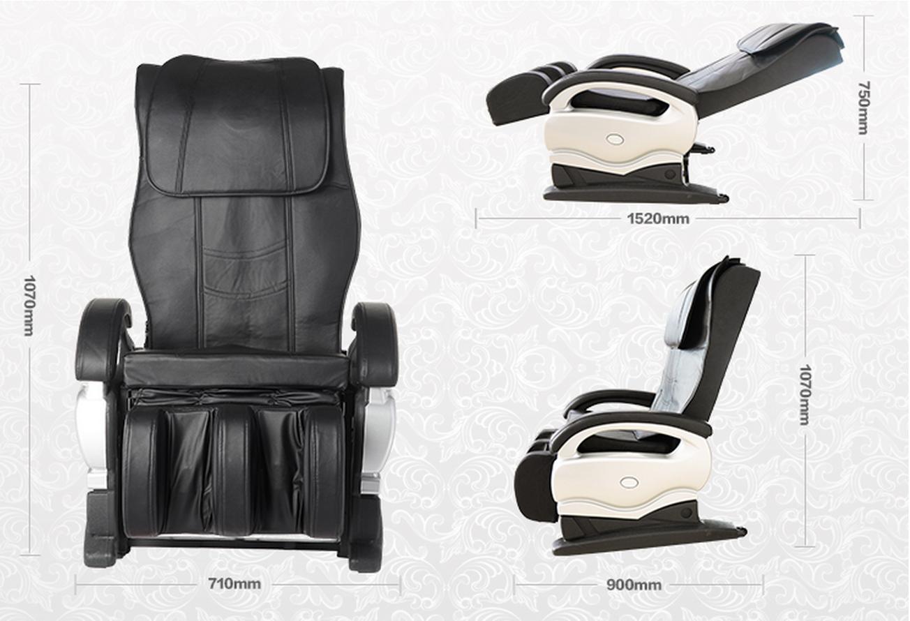 massage chair ebay gray fabric dining chairs electric full body shiatsu pu leather