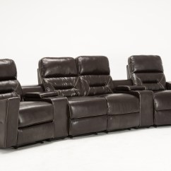 Home Theater Leather Sofa All Modern Sleeper Sofas Mcombo 4 Seat Recliner Media W
