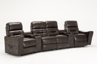 4 Seat Leather Reclining Sofa  TheSofa