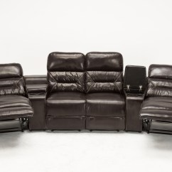 Entertainment Sofa Sets Austin Leather Reclining Mcombo Brown Vibrating 4pc Home Theater Recliner Media