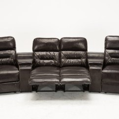 Entertainment Sofa Sets White Slipcovered Sectional Sofas Mcombo Brown Vibrating 4pc Home Theater Recliner Media