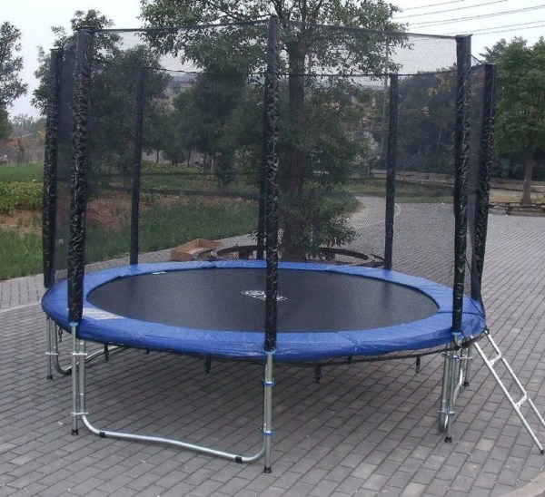 Exacme 10 Ft Trampoline With Safety Pad & Enclosure Net
