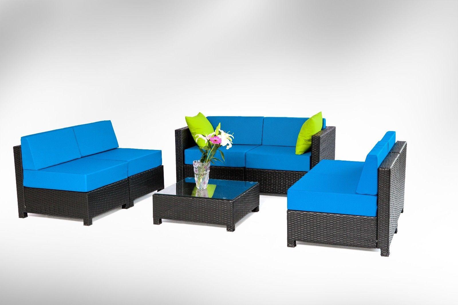 black aluminum outdoor sofa vintage oxblood chesterfield 7pc luxury wicker patio sectional indoor