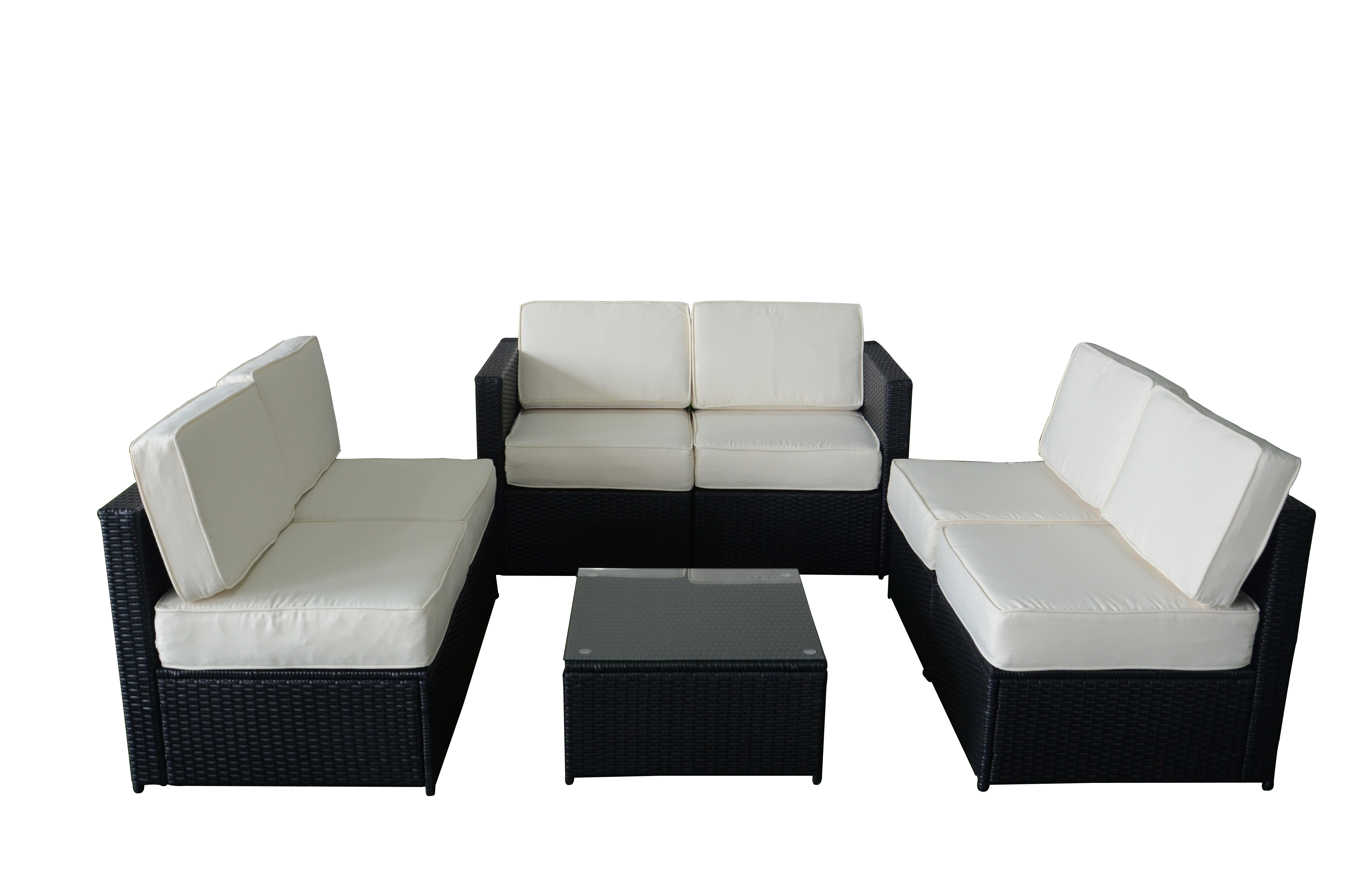 black outdoor sofa cost of leather in bangalore mcombo 7pcs wicker patio sectional
